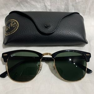 Ray Ban Clubmaster black with green lens RB 3016